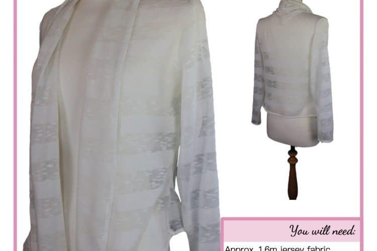The Tailoress PDF Sewing Patterns - Lily Waterfall Cardigan Tutorial