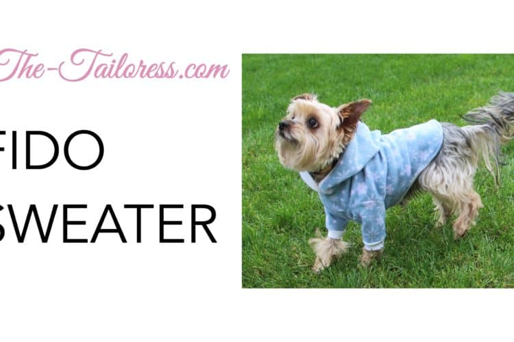 The Tailoress PDF Sewing Patterns - New Video Tutorial for the Fido Sweater