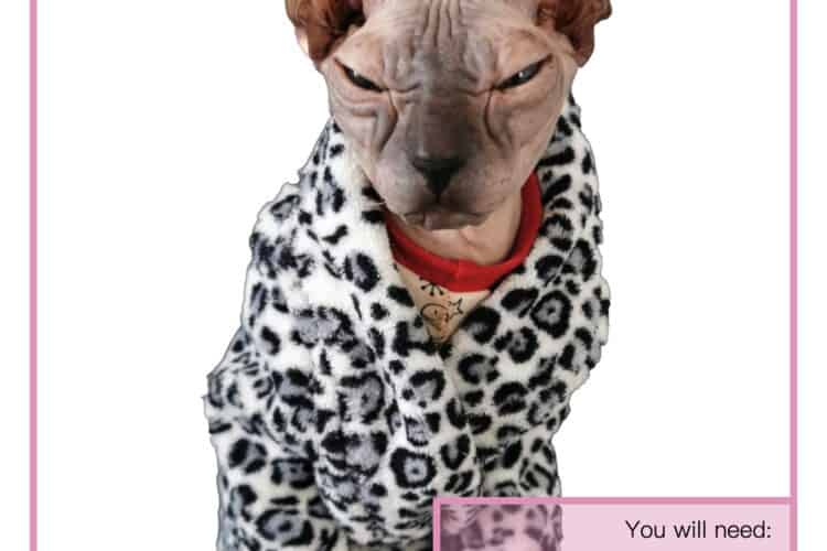 The Tailoress PDF Sewing Patterns - Aziza Dressing Gown for Sphynx