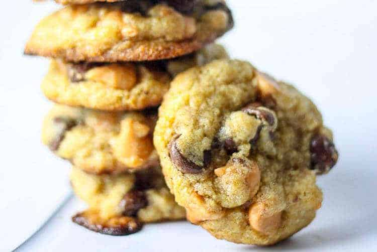 Butterscotch chip and chocolate chip cookies