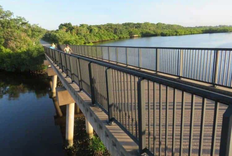 Some of the prettiest scenery comes at the Legacy Trail's bridges over waterways.