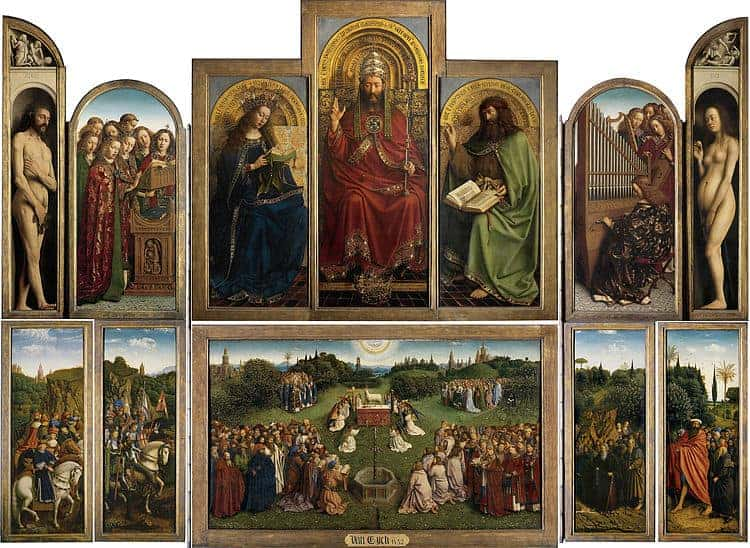 Hubert and Jan van Eyck, The Ghent Altarpiece (Open), 1420s.