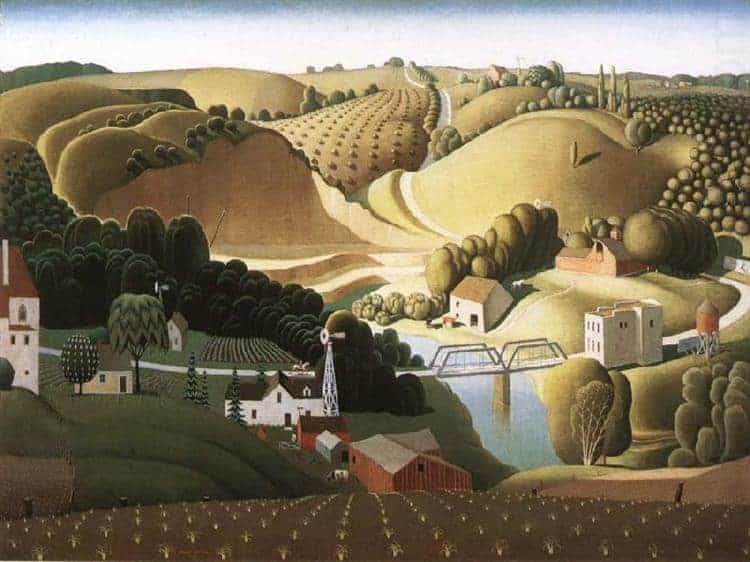 Grant Wood, Stone city, Iowa, 1930. American Gothic