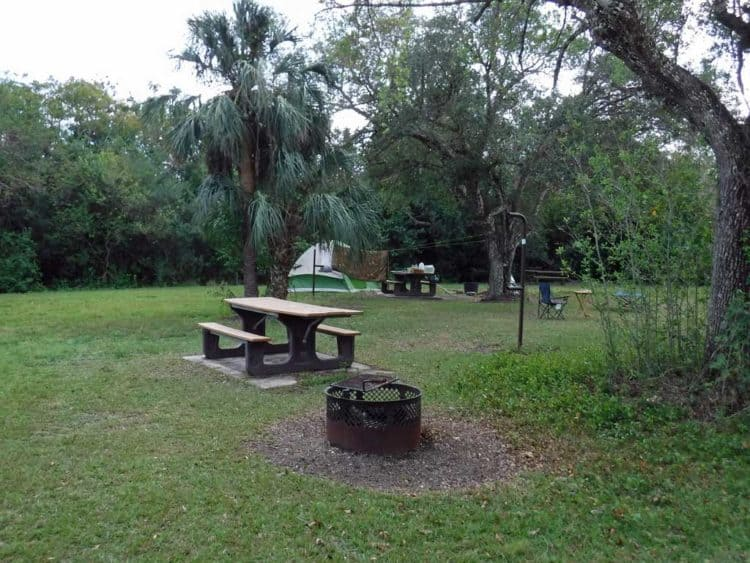 Primitive sites at Mitchell's Landing Campground.
