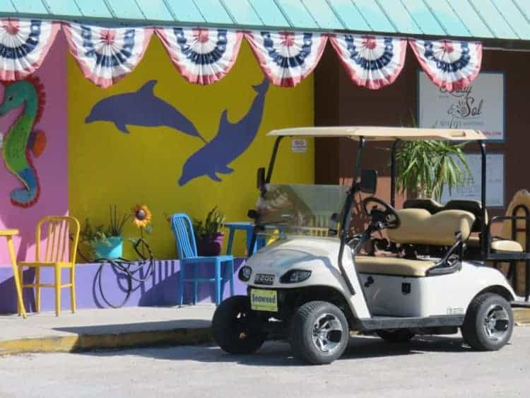 Golf carts are the island way of life on Anna Maria Island.
