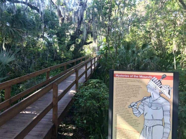 Emerson Point Preserve is an exceptional county park, off the beaten path on the southern end of Tampa Bay. There is excellent hiking and kayaking. A real gem is the Portavant temple mound.