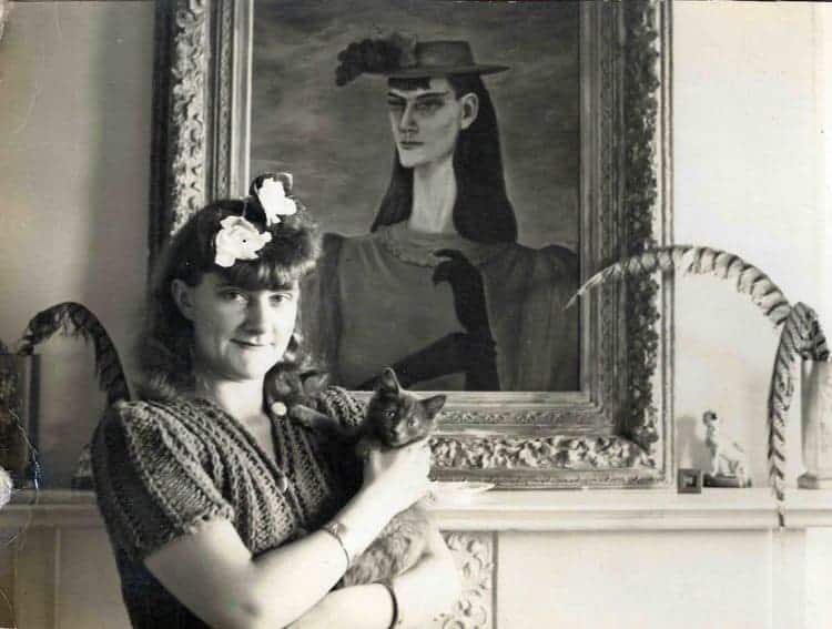Gertrude Abercrombie with Self-Portrait