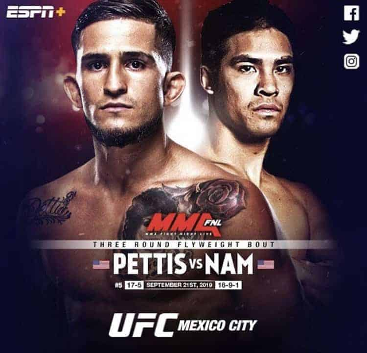 Nam got picked up by UFC to fight Sergio Pettis
