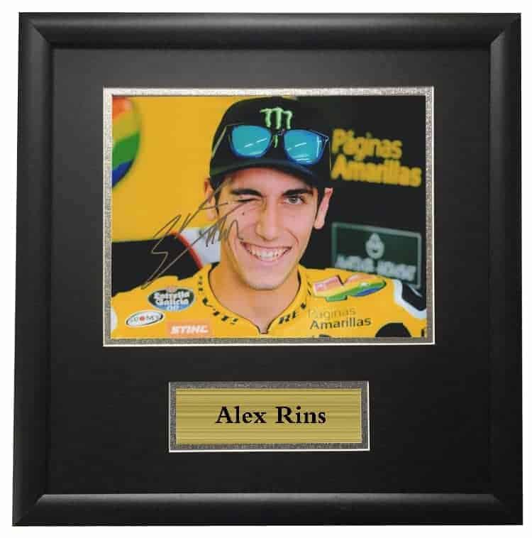 Alex Rins Autographed Signed Framed Photo