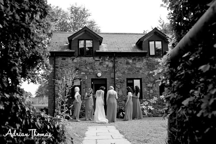 Bridal Party leaving Lannerch Wedding