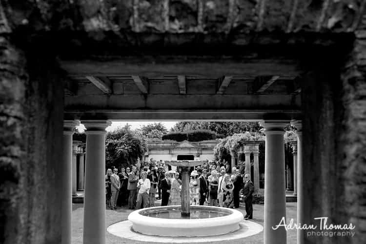 Guests await bride arrival at wedding