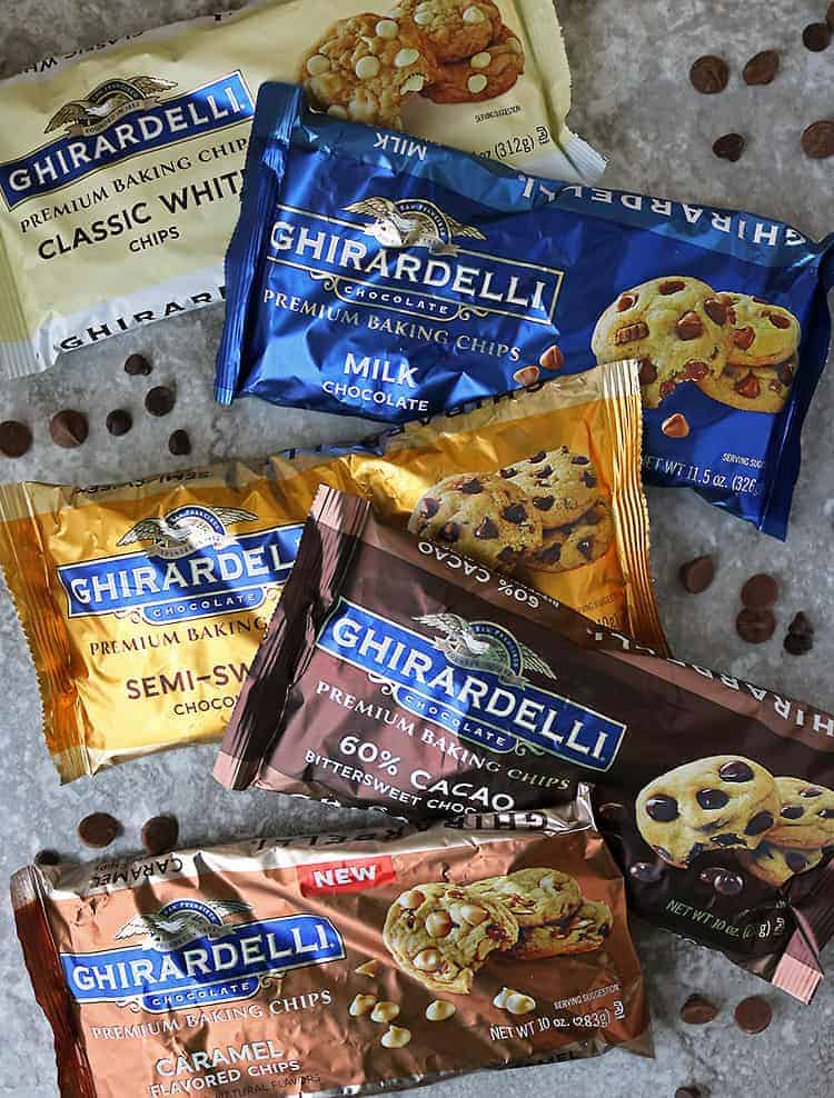 My collection of Ghirardelli