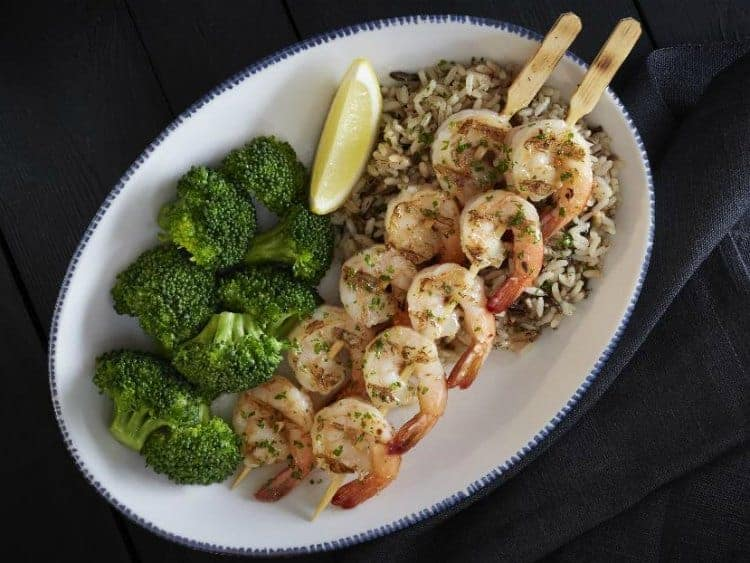 red lobster wood grilled shrimp skewers