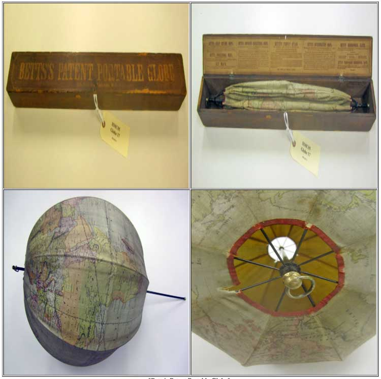 By the Queen's Royal Setters Patent. Betts's New Portable Terrestrial Globe. London: John Betts, n.d. (ca. 1850). Source: Princeton University.
