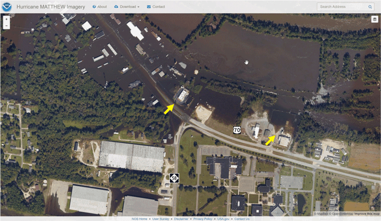 Aerial photography of the flooding.