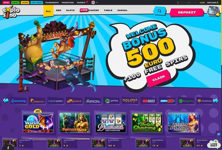 Explosino Casino Review Page