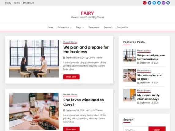 fairy personal blog free wordpress