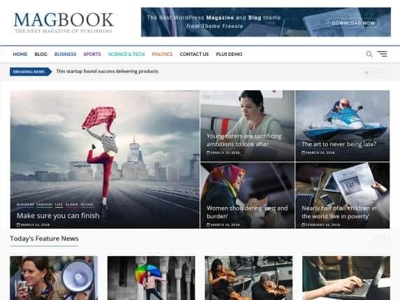 magbook free blog theme