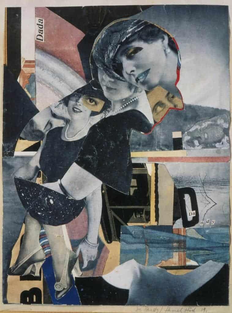 Dadaismus: Hannah Höch, Da-Dandy, 1919.