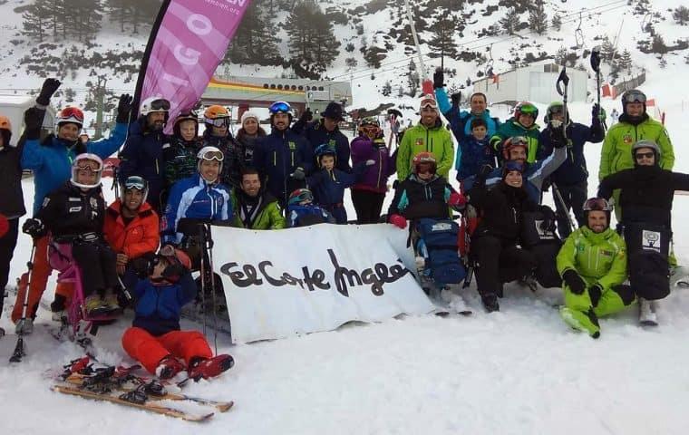 Calendario de cursos y competiciones de Esquí Adaptado con la Fundación También