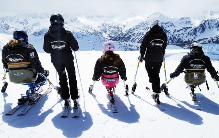El Equipo de Competición de Esquí Alpino Adaptado de la Fundación También participa en la primera prueba de Copa de España, la gran cita en Baqueira Beret que abre la temporada