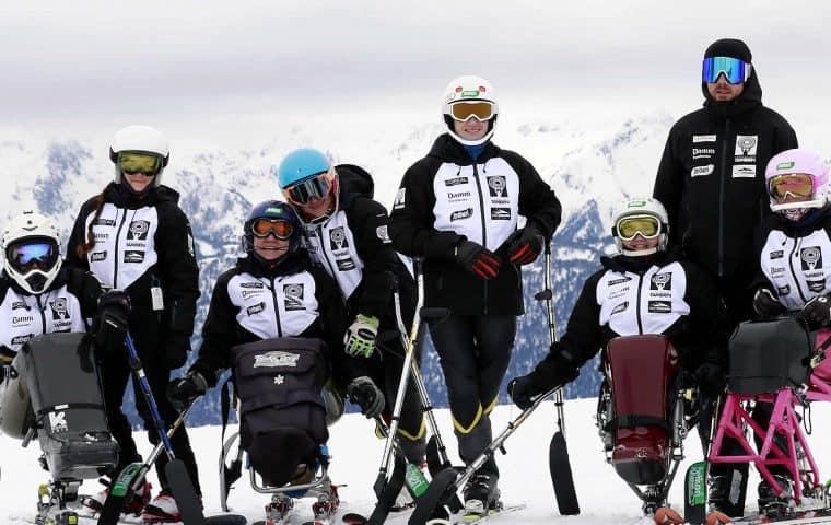 El Equipo Fundación También Competición Esquí & Snowboard durante el Campeonato de España 2019 en Baqueira