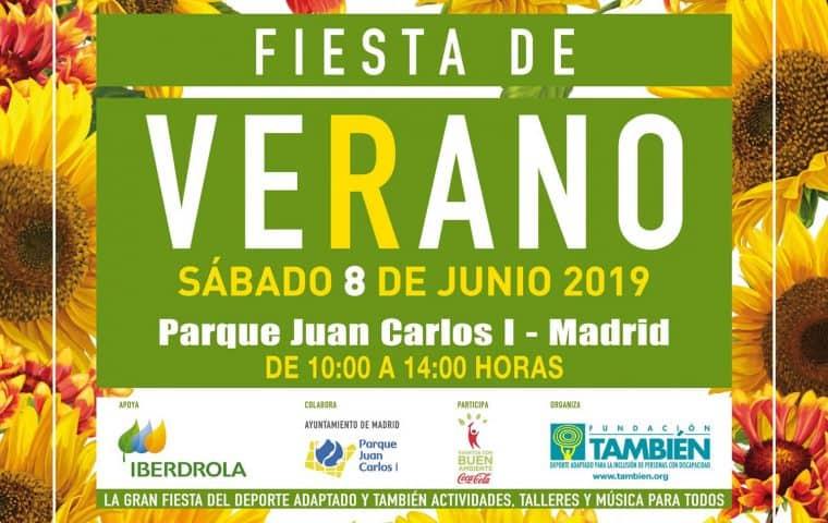 Cartel de la Fiesta de Verano 2019 de la Fundación También