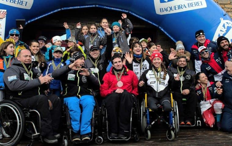 El Equipo de Esquí de la Fundación También triunfa en primera prueba Copa de España Inclusiva 2020