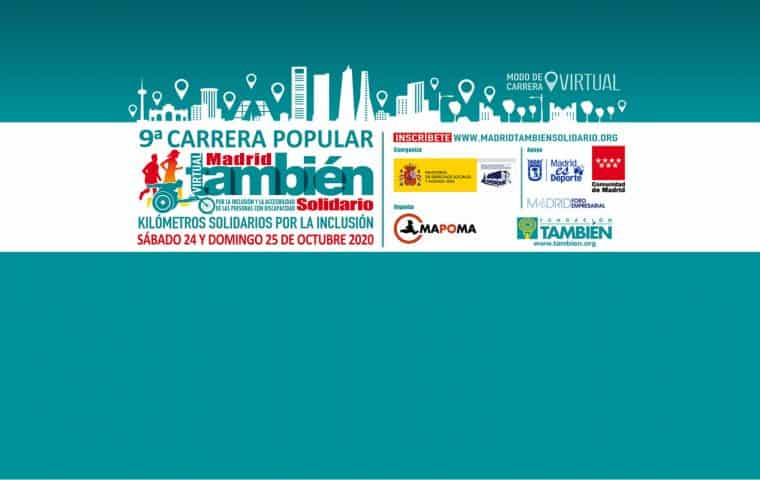 9ª Carrera Popular Madrid También Solidario edición virtual