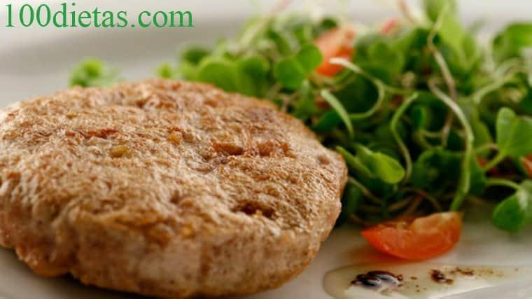 hamburguesa de pollo paleo