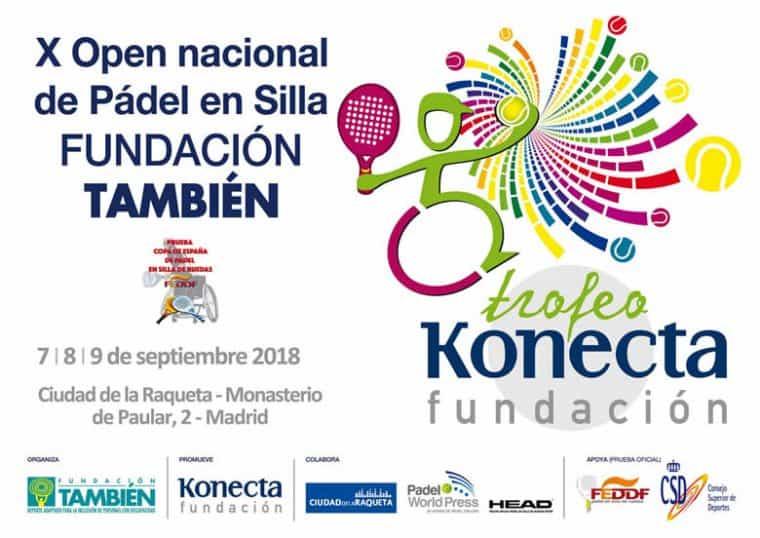 Cartel del X Open Nacional Trofeo Fundación Konecta – Fundación También de Pádel en silla