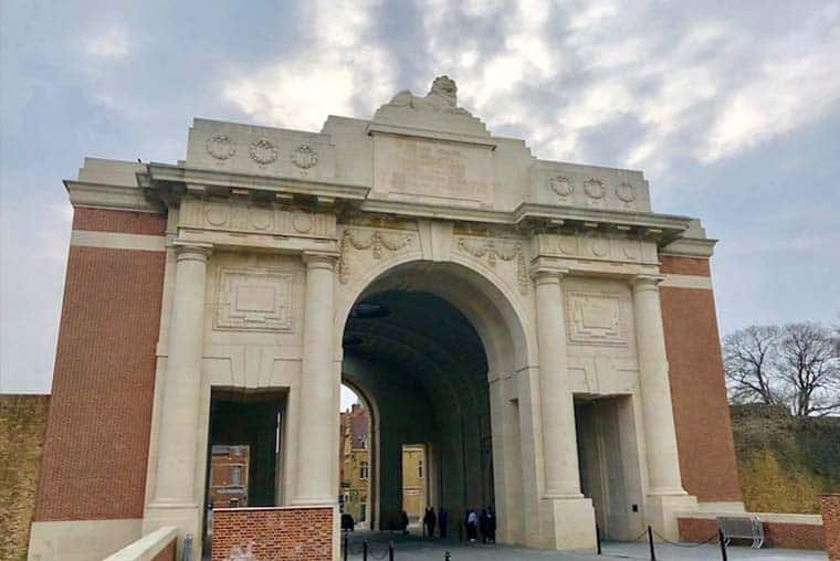Menin Gate before the Last Post ceremony