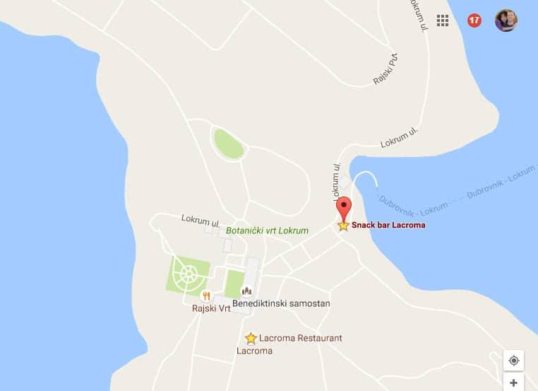 Lokrum (or Lacroma) Island Restaurants