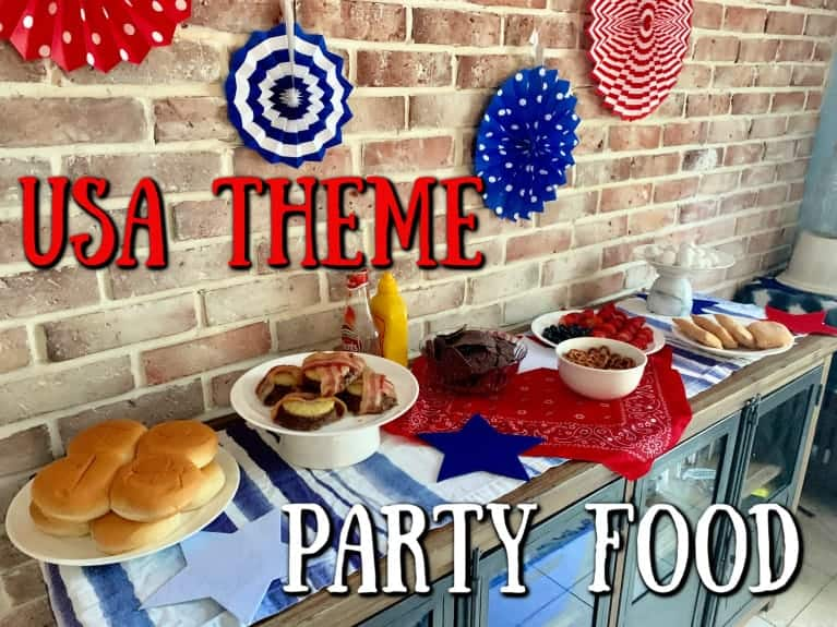 american them party food set out on table