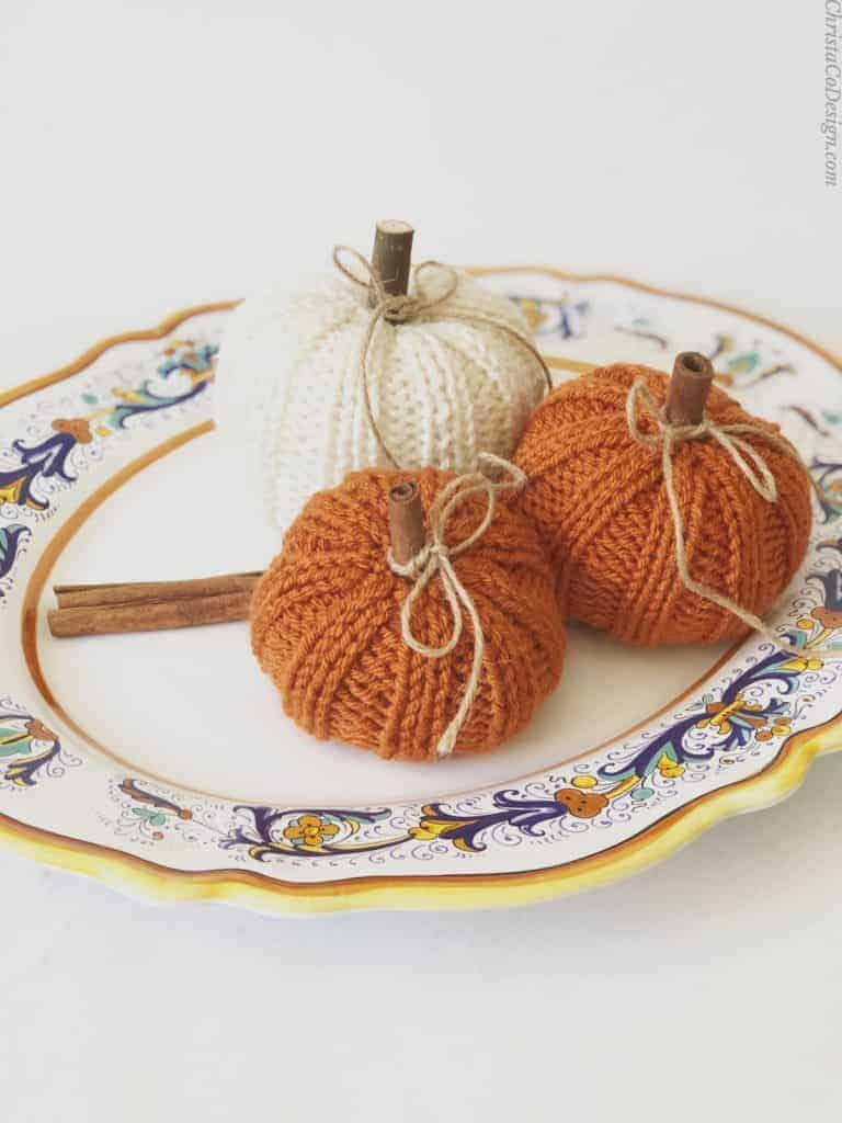 picture of knit pumpkins easy knitting pattern free