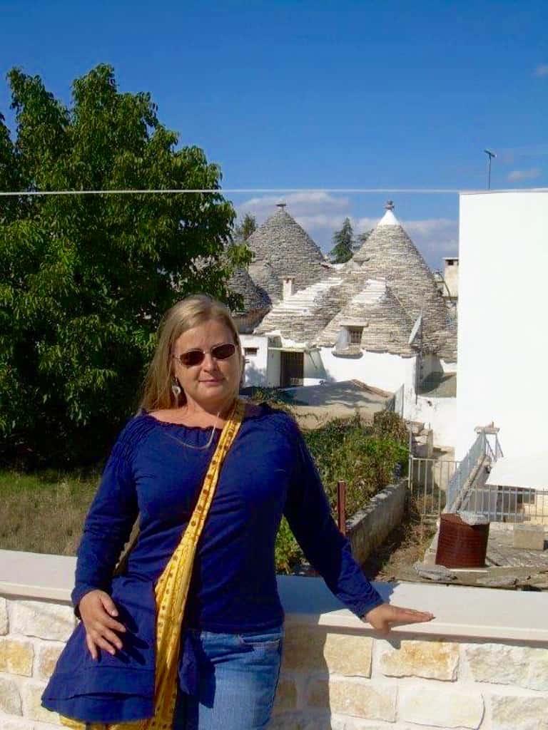 Auswanderin Corinna in Alberobello Trulli