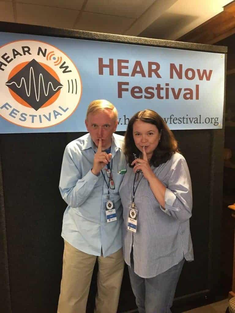 Ralph Scott, Kendra Murray outside of HEAR NOW Festival 'Whisperroom' Credit: Dakota Krout (THE Dakota Krout)