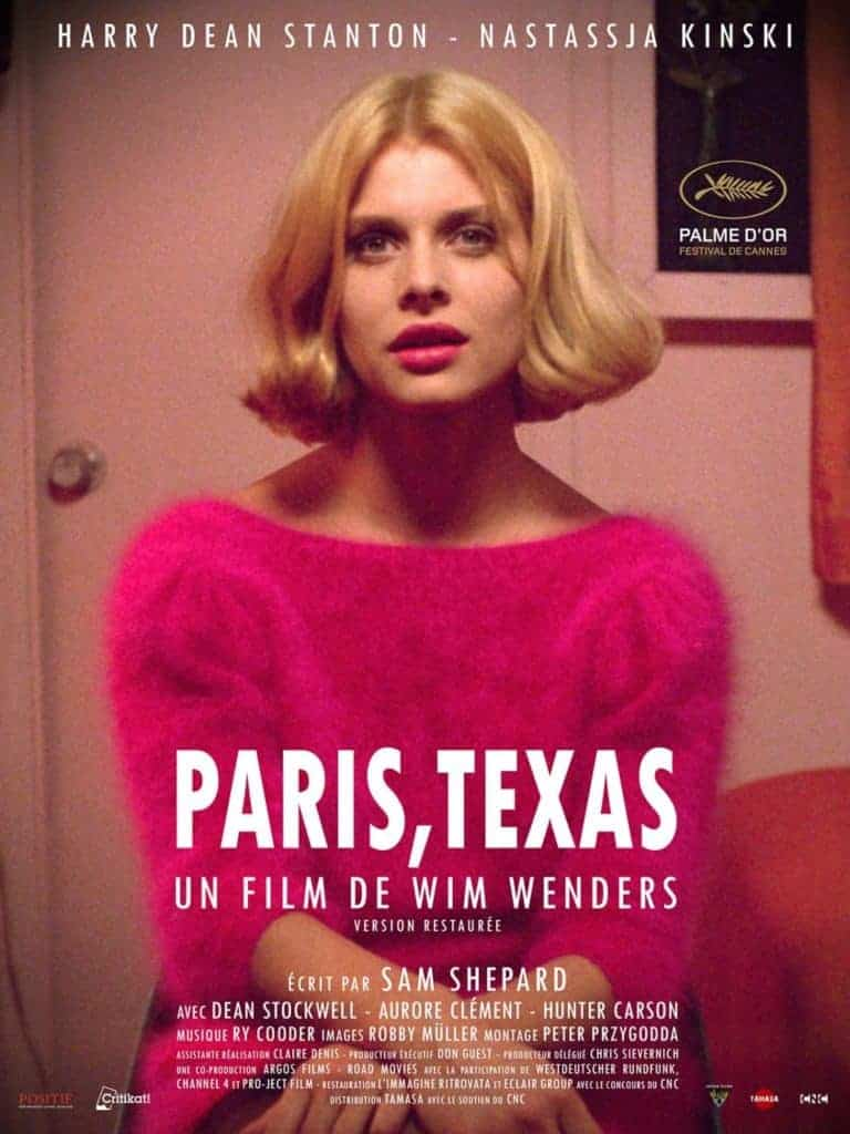 Nastassja Kinski in Paris, Texas - Cannes film festival award winner