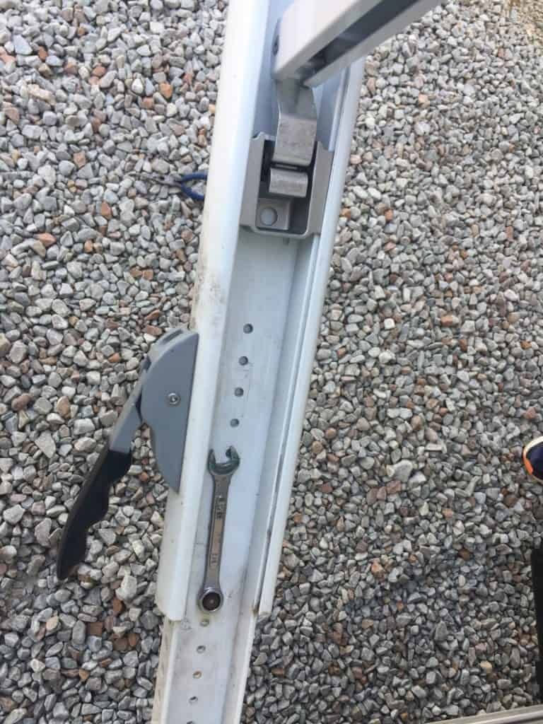 rv awning repair arm assembly