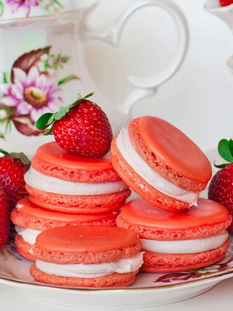 Triple Strawberry Macarons Recipe Video Tatyanas Everyday Food