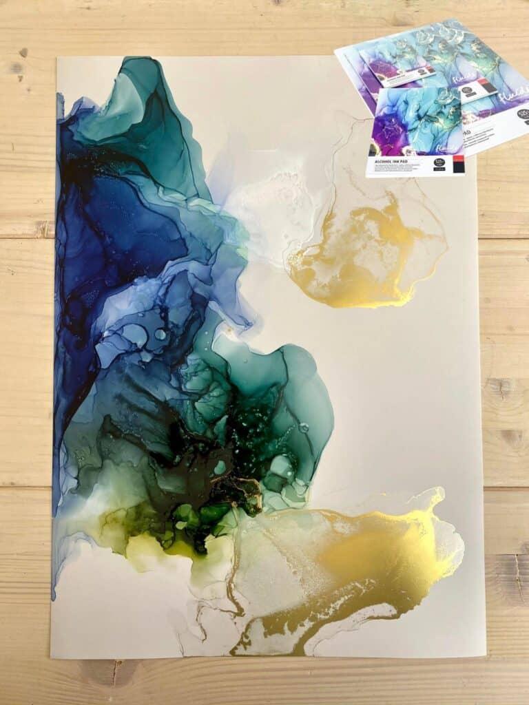 Mein Alcohol Ink Bild auf Fluids Alcohol Ink Papier