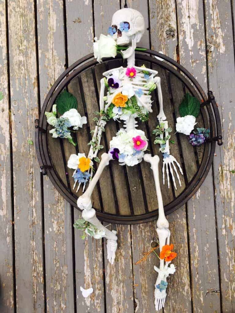 Skeleton Flower Arrangement