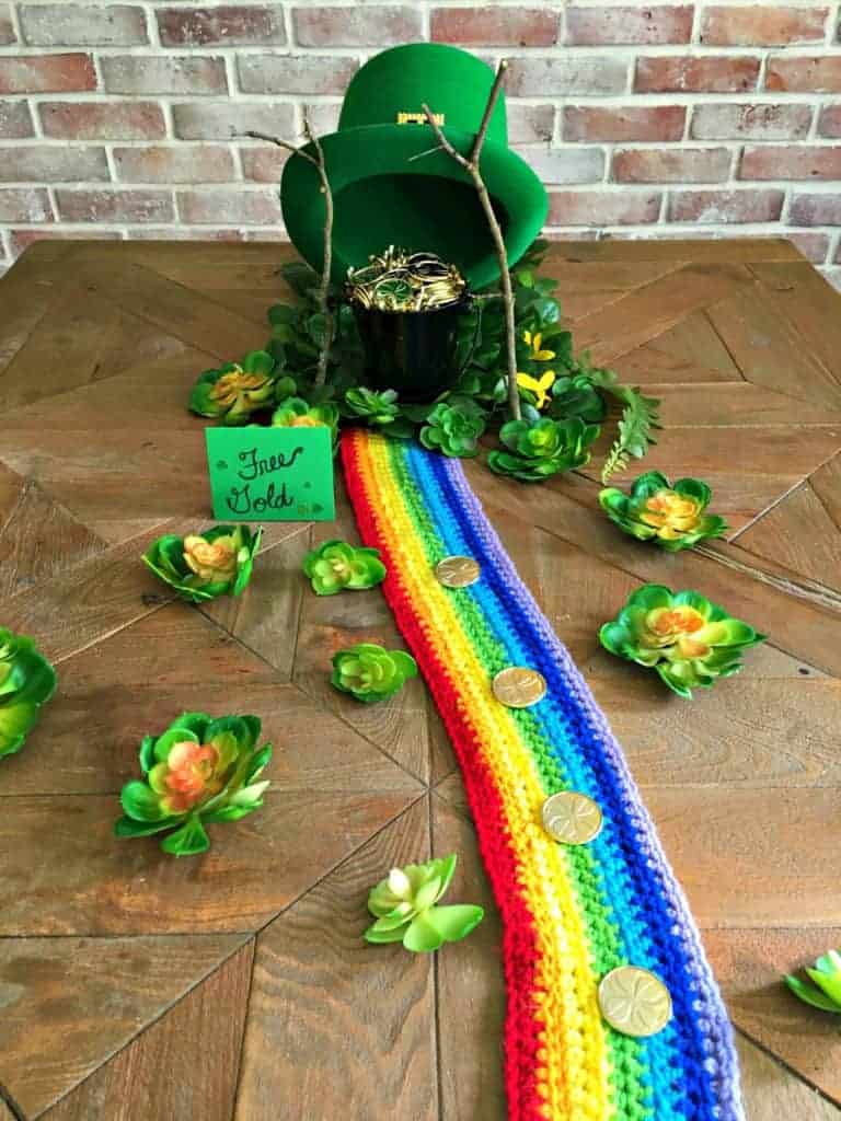 Leprechaun trap on table