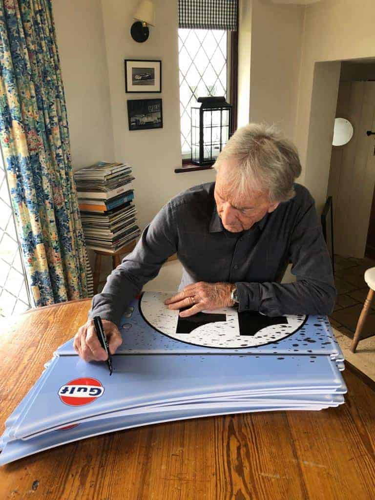 Porsche 917 Le Mans Race car panel wall art - LIMITED EDITION Signed by Derek Bell. Ideal for man cave, office etc.