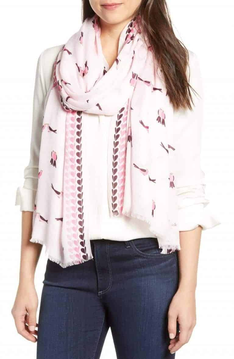 kate spade lovebirds scarf Nordstrom | Valentine's Day Gift Ideas | OPAS Blog