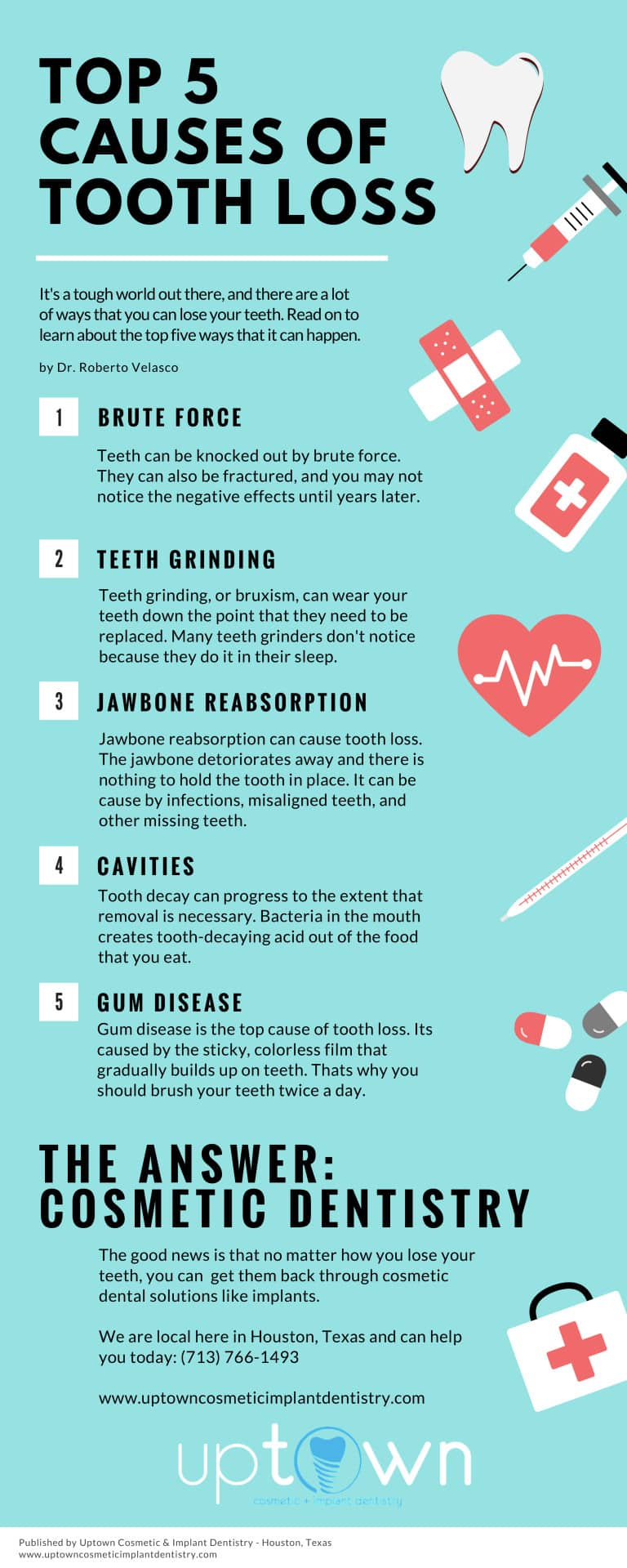 top 5 causes of tooth loss