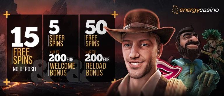 Energy Casino exclusive welcome bonus
