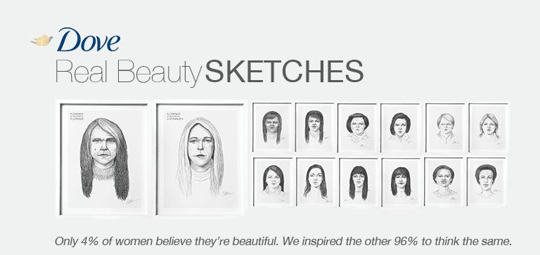 marketing bellezza in dove real sketches campaign