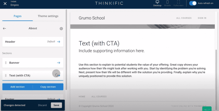 Thinkific-review-tutorial-create-site-CTA