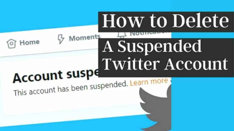 How to Delete a Suspended Twitter Account